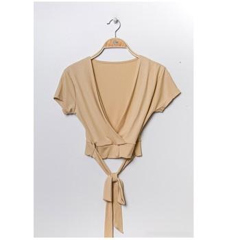 Textiel Dames Tops / Blousjes Fashion brands FR029T-BEIGE Beige