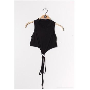 Textiel Dames Tops / Blousjes Fashion brands FR070-BLACK Zwart