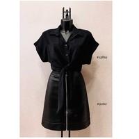 Textiel Dames Tops / Blousjes Fashion brands ERMD-13819-N-BLACK Zwart