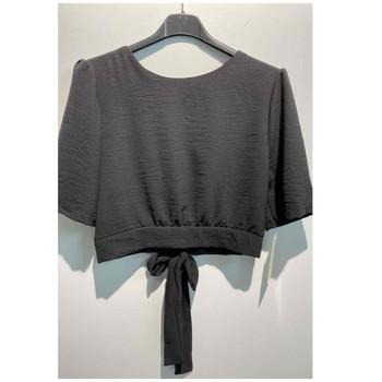 Textiel Dames Tops / Blousjes Fashion brands 5172-BLACK Zwart