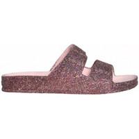 Schoenen Dames Leren slippers Cacatoès Trancoso Roze