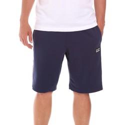 Textiel Heren Korte broeken / Bermuda's Ea7 Emporio Armani 3KPS81 PJ05Z Blauw