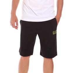 Textiel Heren Korte broeken / Bermuda's Ea7 Emporio Armani 3KPS59 PJ05Z Zwart