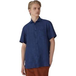 Textiel Heren Overhemden korte mouwen Trussardi 52C00213-1T002248 Blauw