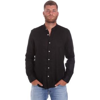 Textiel Heren Overhemden lange mouwen Refrigiwear RM0C10100LI9110 Zwart