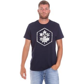 Textiel Heren T-shirts korte mouwen Lumberjack CM60343 023EU Blauw
