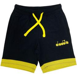 Textiel Kinderen Korte broeken / Bermuda's Diadora 102175908 Zwart