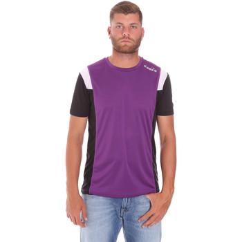 Textiel Heren T-shirts korte mouwen Diadora 102175719 Paars