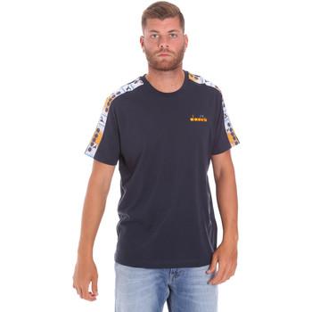 Textiel Heren T-shirts korte mouwen Diadora 502176085 Blauw