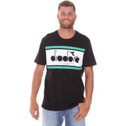 Textiel Heren T-shirts korte mouwen Diadora 502176632 Zwart