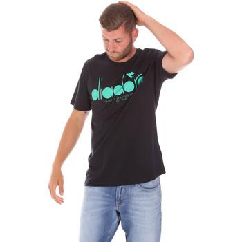 Textiel Heren T-shirts korte mouwen Diadora 502176633 Zwart