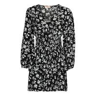 Textiel Dames Korte jurken Moony Mood PAPIS Zwart / Wit