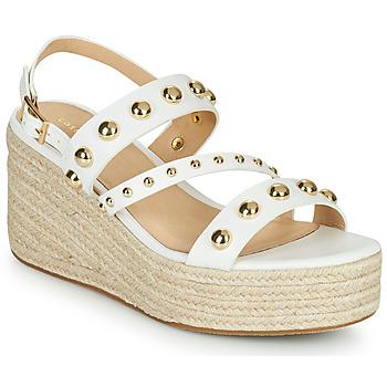 Schoenen Dames Sandalen / Open schoenen Cosmo Paris HOURA Wit / Goud
