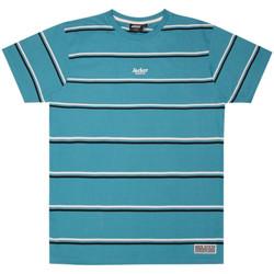 Textiel Heren T-shirts korte mouwen Jacker Poh stripes Blauw