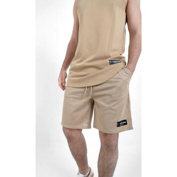 Textiel Heren Korte broeken / Bermuda's Sixth June Short  Mesh beige