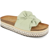 Schoenen Dames Leren slippers Buonarotti YT5570 Verde