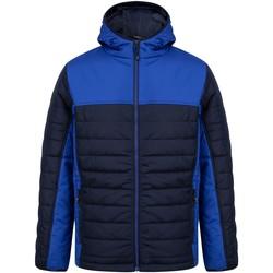 Textiel Dons gevoerde jassen Finden & Hales LV660 Marine/Loyaal Blauw