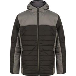 Textiel Dons gevoerde jassen Finden & Hales LV660 Zwart/Gunmetaalgrijs