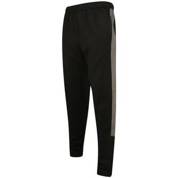 Textiel Heren Trainingsbroeken Finden & Hales LV881 Zwart/Gunmetaalgrijs