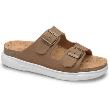 Schoenen Dames Leren slippers Feliz Caminar SANDALIA BELONA - Brown