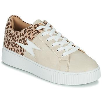 Schoenen Dames Lage sneakers Vanessa Wu VENDAVEL Beige / Leopard
