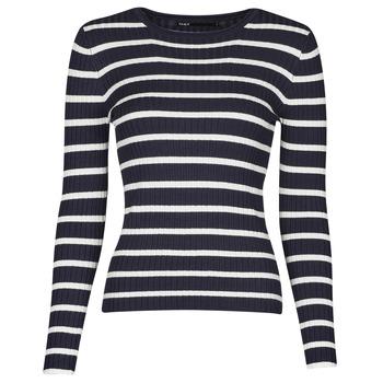Textiel Dames Truien Only ONLNATALIA Marine / Wit