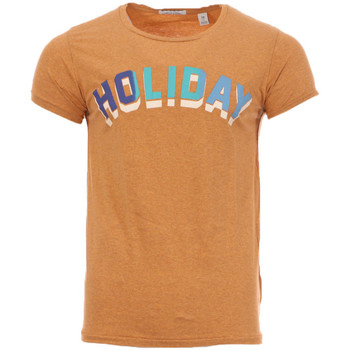 Textiel Heren T-shirts korte mouwen Scotch & Soda  Brown