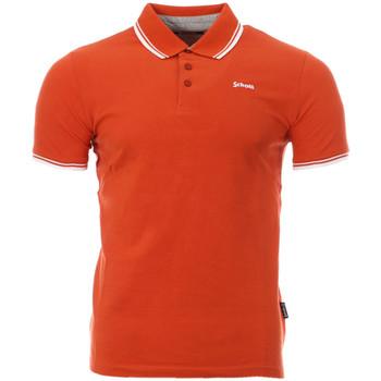 Textiel Heren Polo's korte mouwen Schott  Orange