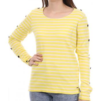 Textiel Dames T-shirts met lange mouwen Scotch & Soda  Geel