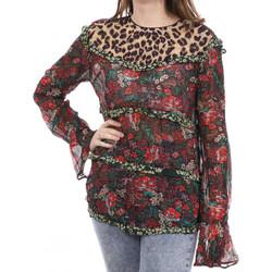Textiel Dames T-shirts met lange mouwen Scotch & Soda  Rood