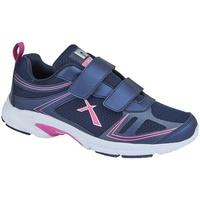 Schoenen Dames Lage sneakers Dek  Marine / Fuchsia