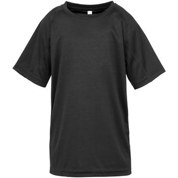 Textiel Jongens T-shirts korte mouwen Spiro S287J Zwart
