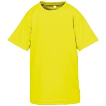 Textiel Jongens T-shirts korte mouwen Spiro S287J Flo Geel