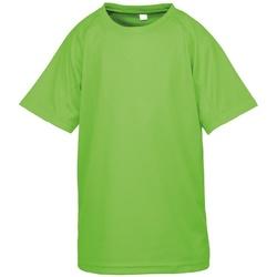 Textiel Jongens T-shirts korte mouwen Spiro S287J Kalk