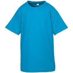 Textiel Jongens T-shirts korte mouwen Spiro S287J Oceaan Blauw