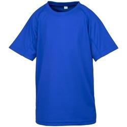 Textiel Jongens T-shirts korte mouwen Spiro S287J Koningsblauw