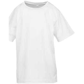 Textiel Jongens T-shirts korte mouwen Spiro S287J Wit