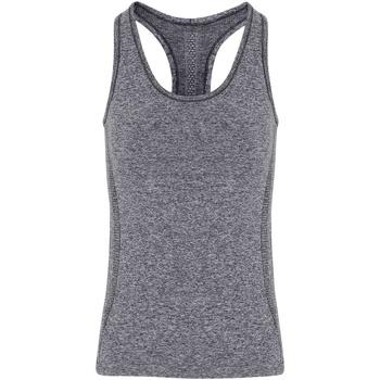 Textiel Dames Mouwloze tops Tridri TR209 Houtskool