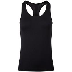 Textiel Dames Mouwloze tops Tridri TR209 Volledig zwart