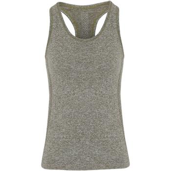 Textiel Dames Mouwloze tops Tridri TR209 Olijf