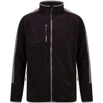 Textiel Fleece Finden & Hales LV580 Zwart/Gunmetaal