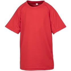 Textiel Kinderen T-shirts korte mouwen Spiro S287J Rood