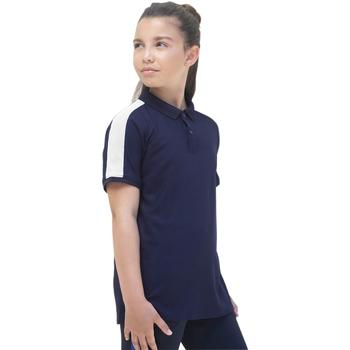Textiel Meisjes Polo's korte mouwen Finden & Hales LV382 Marine / Wit