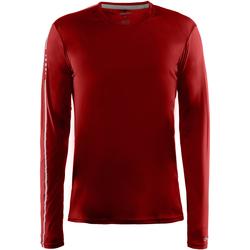Textiel Heren T-shirts met lange mouwen Craft CT089 Rood