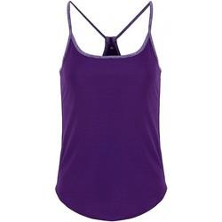 Textiel Dames Tops / Blousjes Tridri TR043 Helder paars / paars gemêleerd