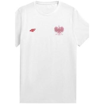Textiel Heren T-shirts korte mouwen 4F TSM950 Blanc