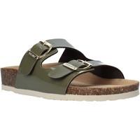 Schoenen Dames Leren slippers Bionatura 94THESISD-VERV18 Groen