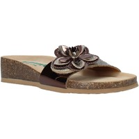 Schoenen Dames Leren slippers Bionatura 12AMB21-I-MITBA1 Bruin