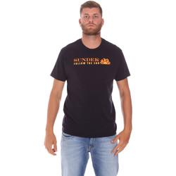 Textiel Heren T-shirts korte mouwen Sundek M049TEJ7800 Zwart