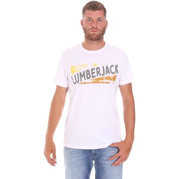 Textiel Heren T-shirts korte mouwen Lumberjack CM60343 026EU Wit